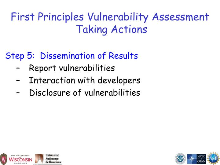 First Principles Vulnerability Assessment