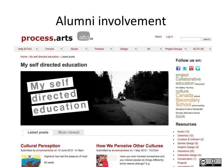 Alumni involvement