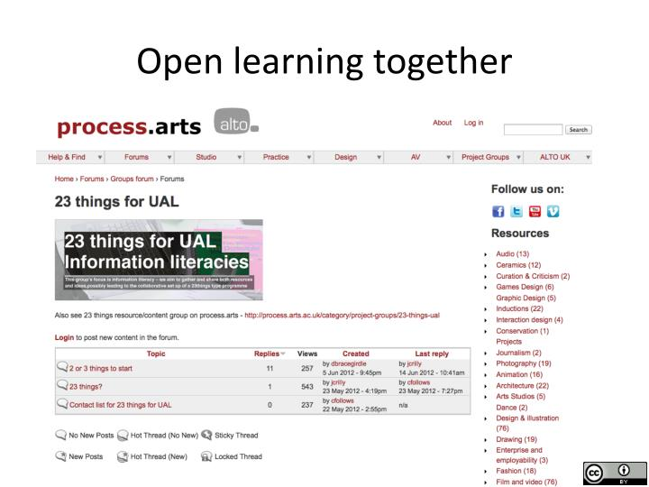 Open learning together
