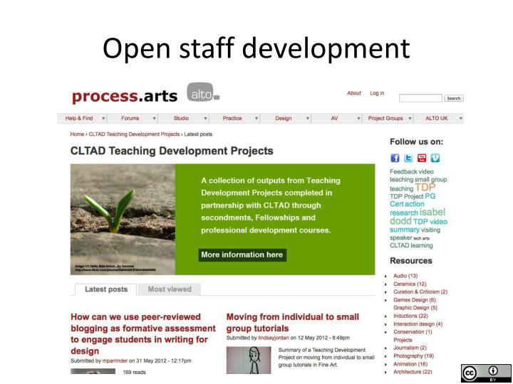 Open staff development