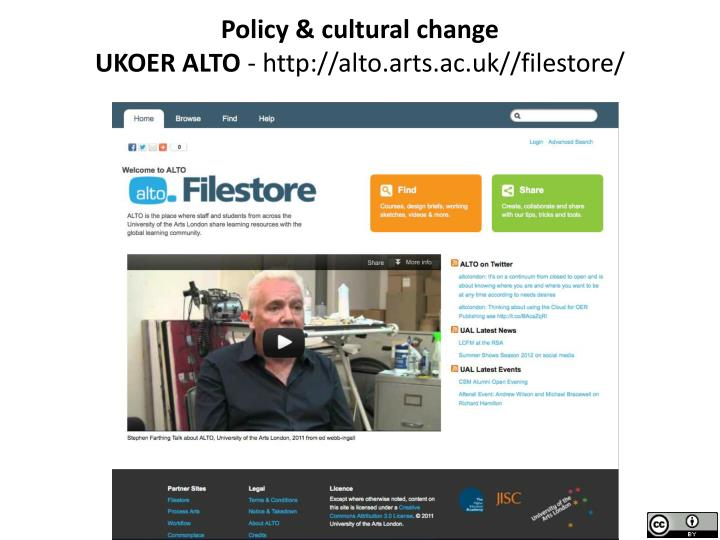 Policy & cultural change