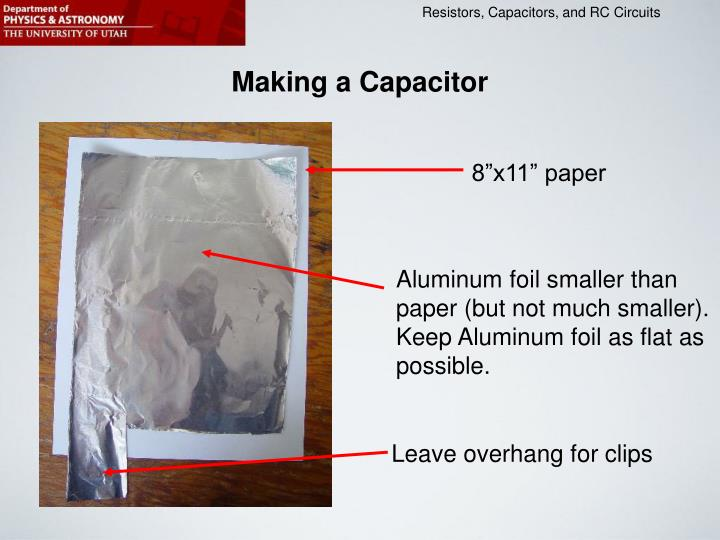 Making a Capacitor