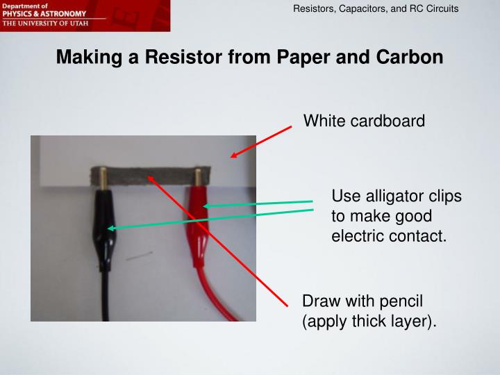 Making a Resistor from Paper and Carbon