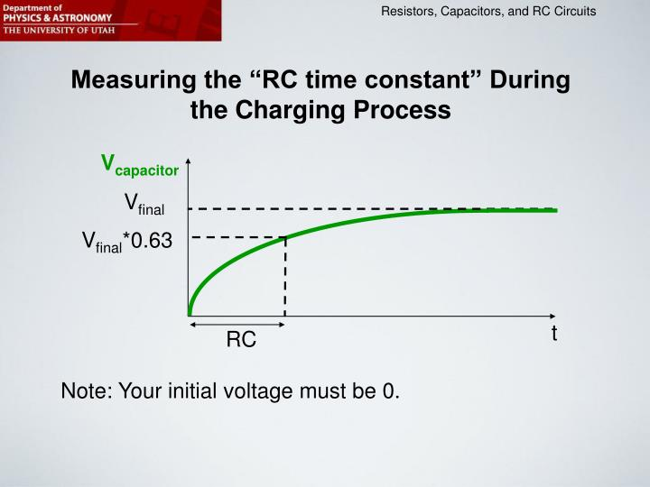 "Measuring the ""RC time constant"" During the Charging Process"