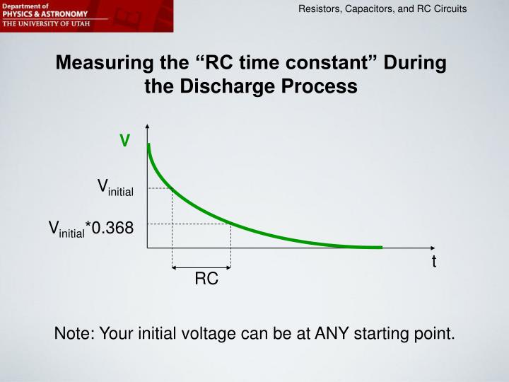 "Measuring the ""RC time constant"" During the Discharge Process"