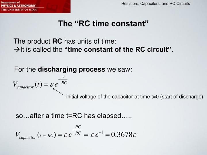 "The ""RC time constant"""