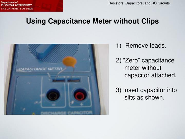 Using Capacitance Meter without Clips