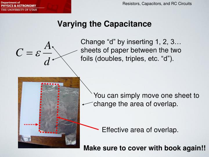 Varying the Capacitance