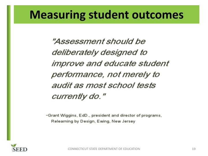 Measuring student outcomes