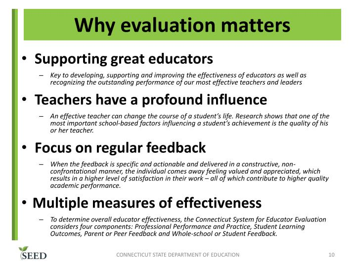 Why evaluation matters