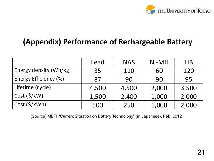 (Appendix) Performance