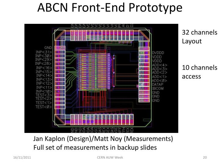 ABCN Front-End Prototype