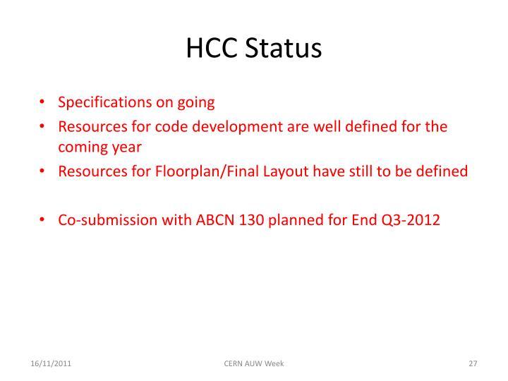 HCC Status