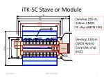 itk sc stave or module1