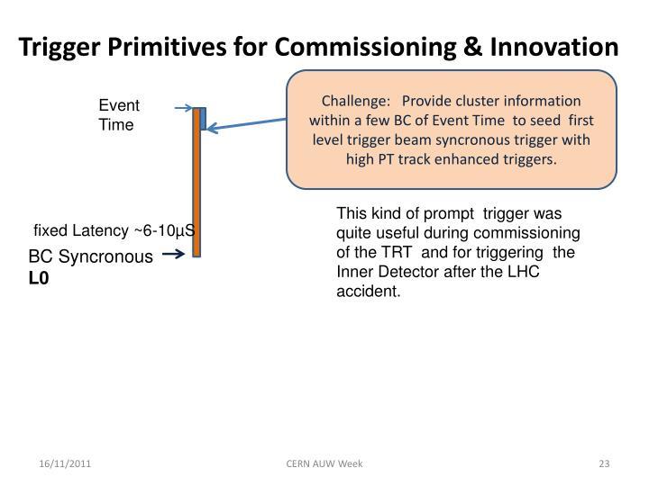 Trigger Primitives for Commissioning & Innovation