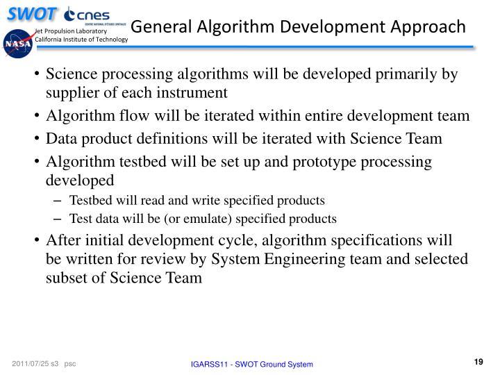 General Algorithm Development Approach