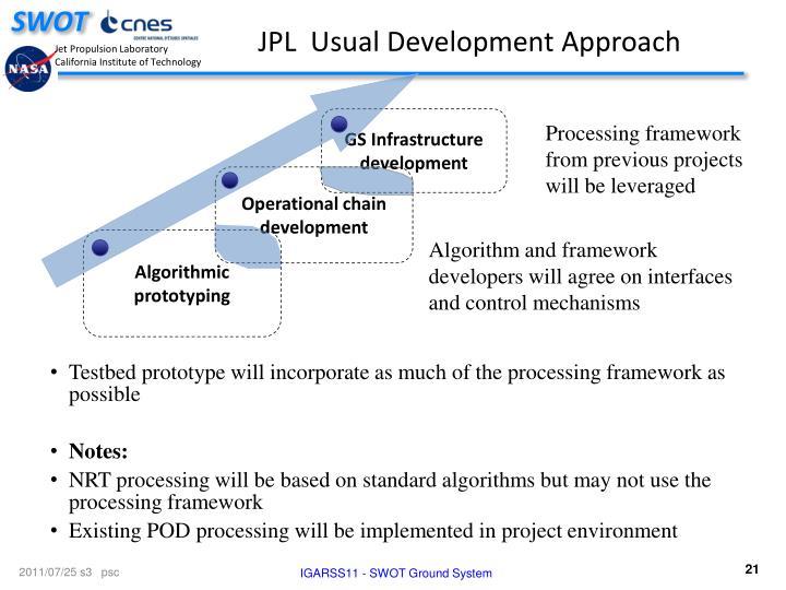 JPL  Usual Development Approach