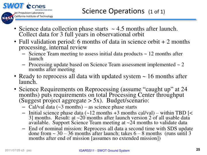 Science Operations