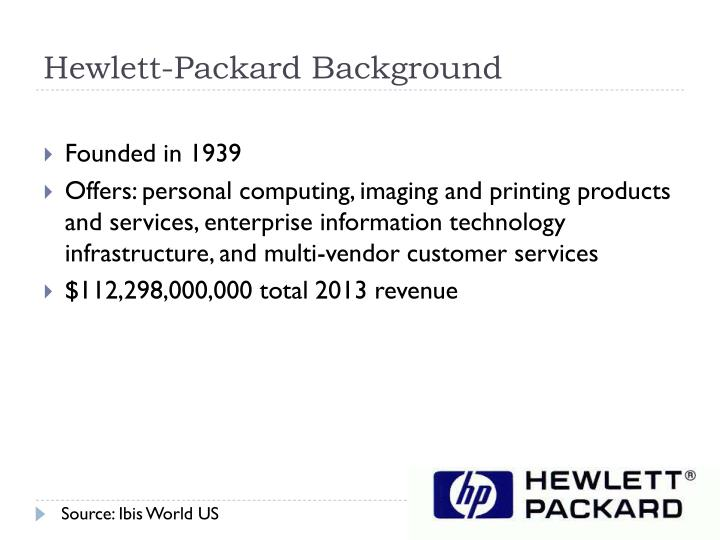 Hewlett-Packard Background
