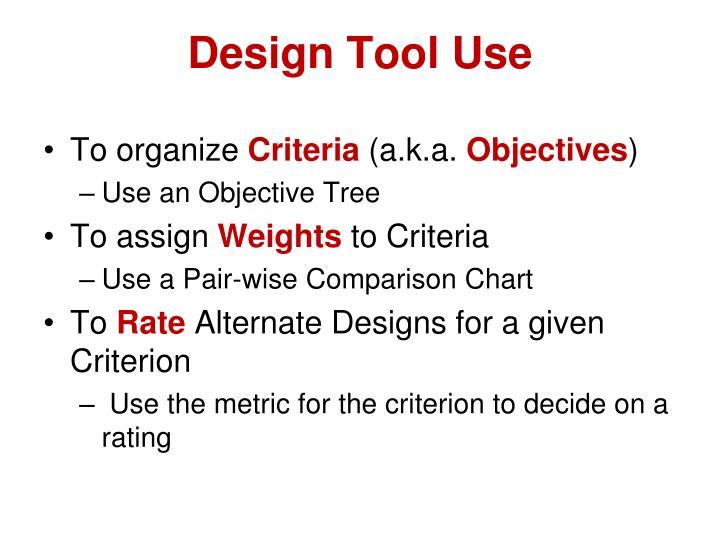 Design Tool Use