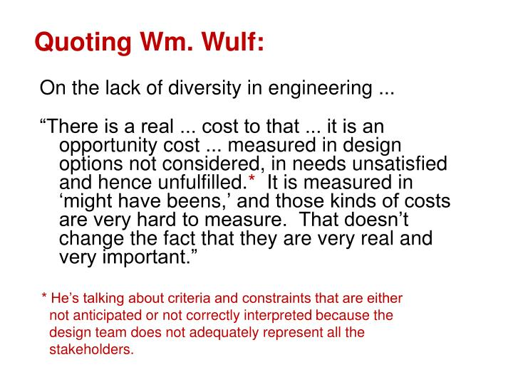 On the lack of diversity in engineering ...