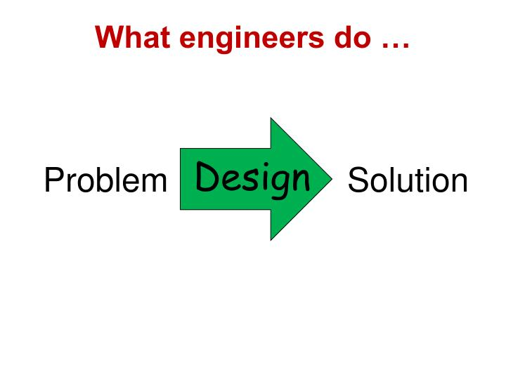 What engineers do …