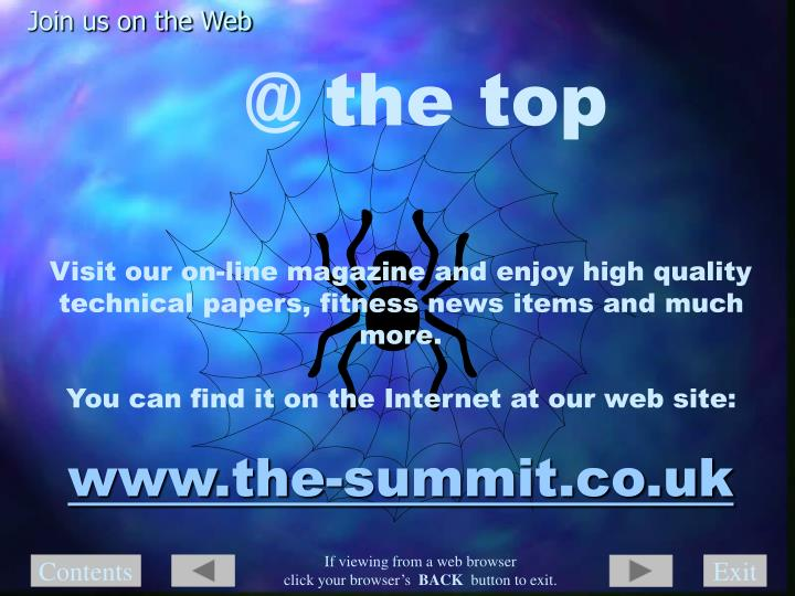 Join us on the Web