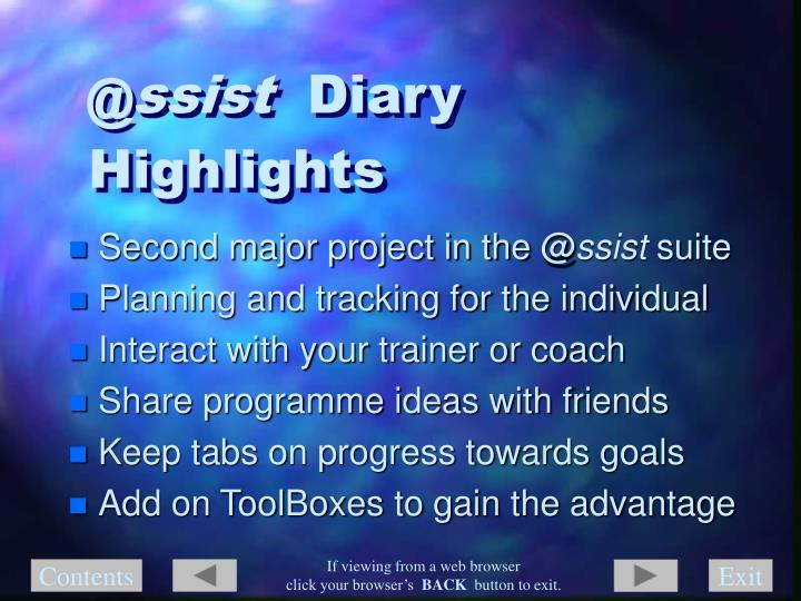 Ssist diary