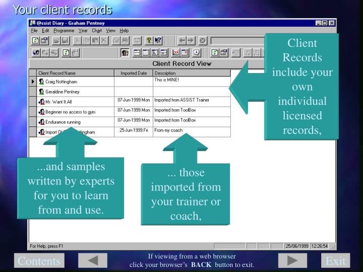 Your client records