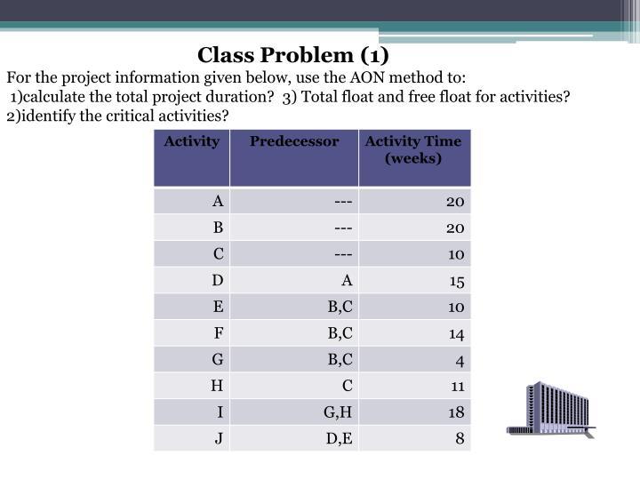 Class Problem (1)