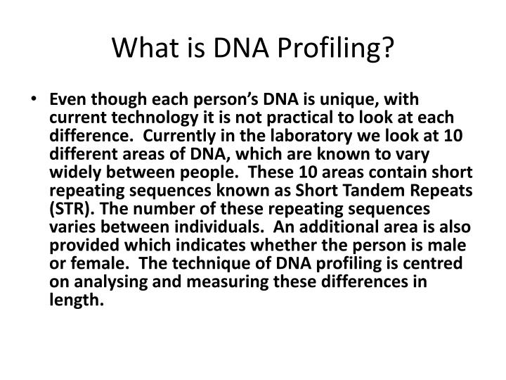 What is DNA Profiling?