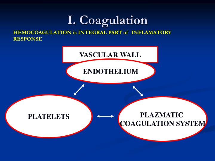 I. Coagulation