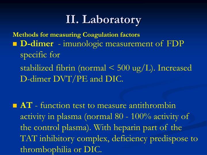 II. Laboratory