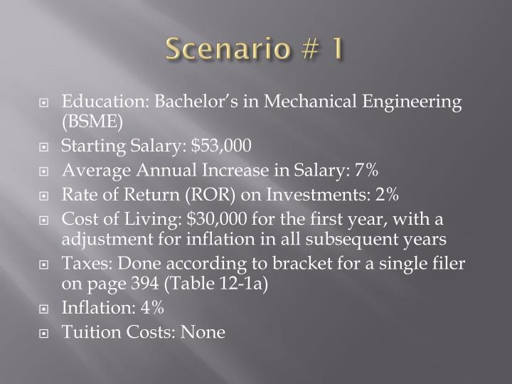 Scenario # 1