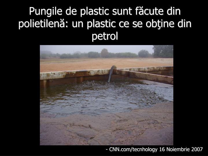Pungile de plastic sunt făcute din polietilenă