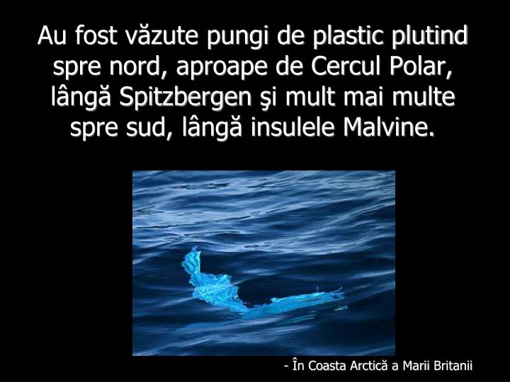 Au fost văzute pungi de plastic plutind spre nord, aproape de Cercul Polar, lângă