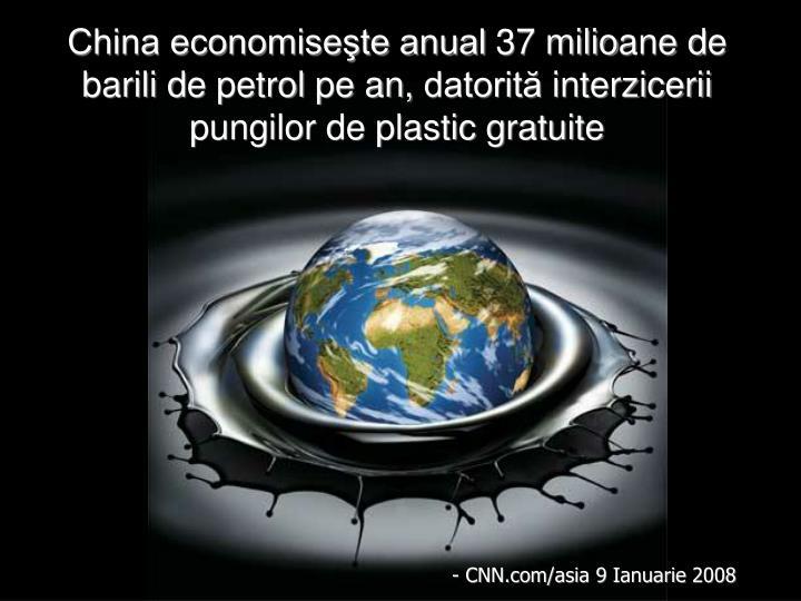 China economiseşte anual