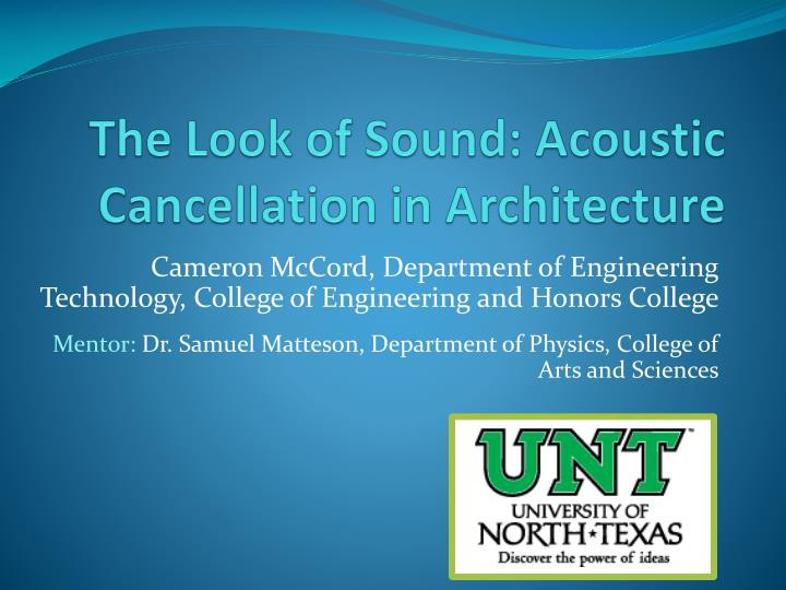 The look of sound acoustic cancellation in architecture