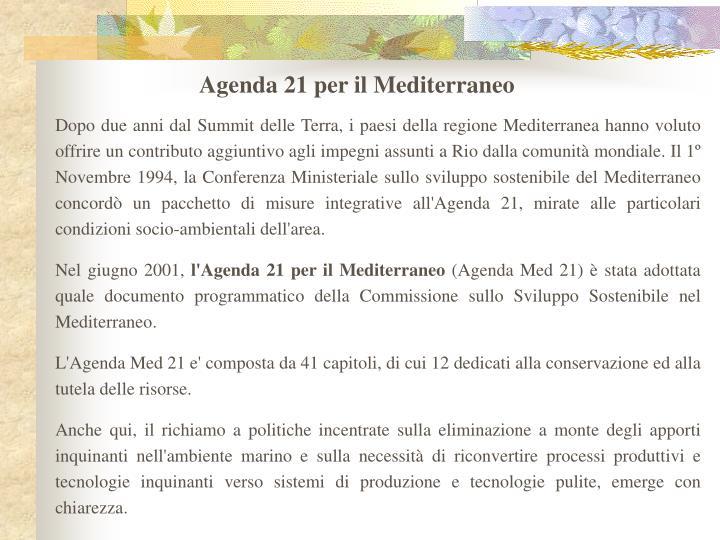 Agenda 21 per il Mediterraneo