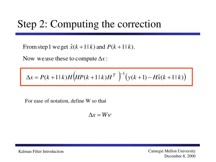 Step 2: Computing the correction