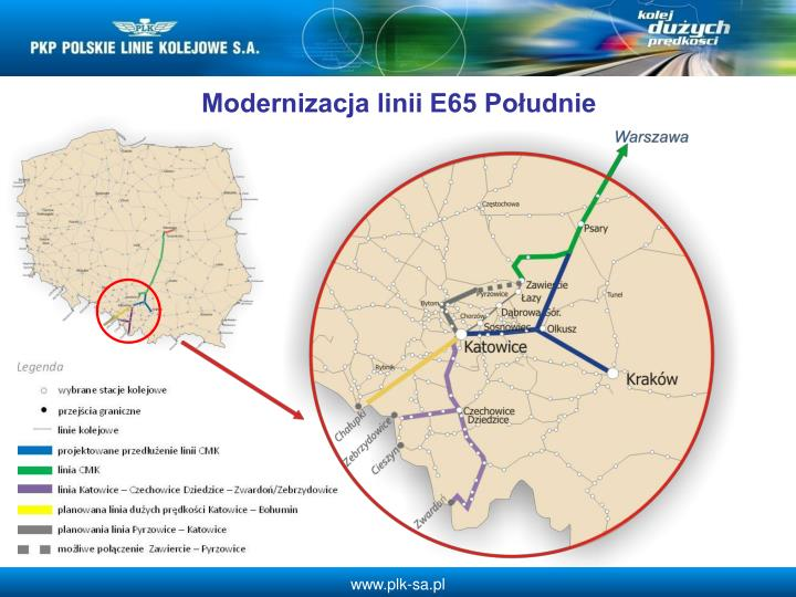 Modernizacja linii E65 Poudnie