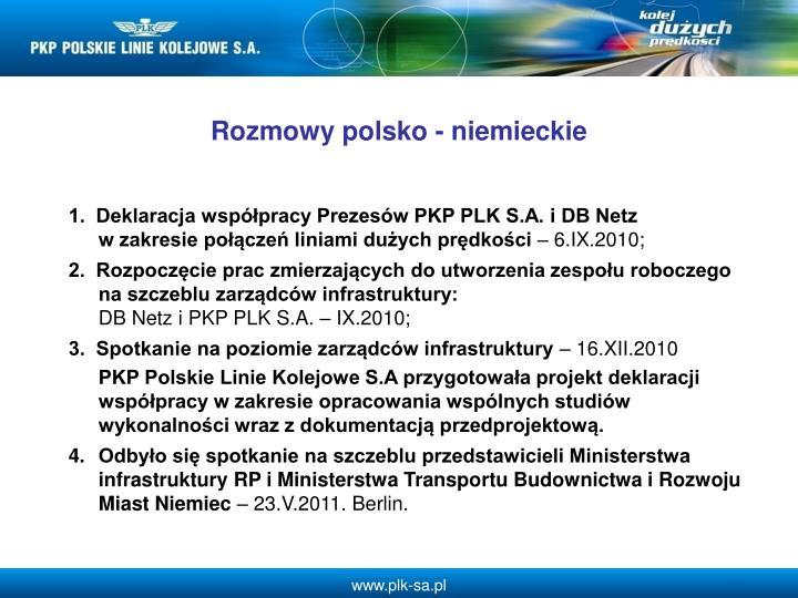 Rozmowy polsko - niemieckie