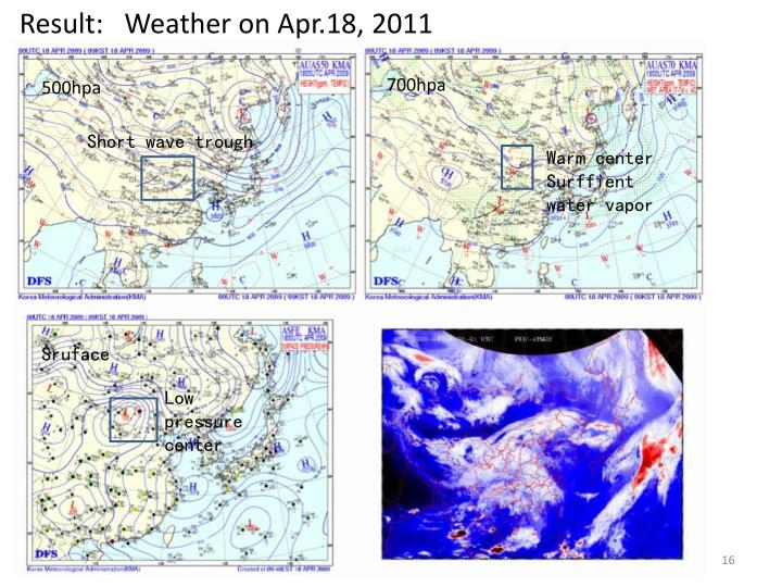 Result:   Weather on Apr.18, 2011