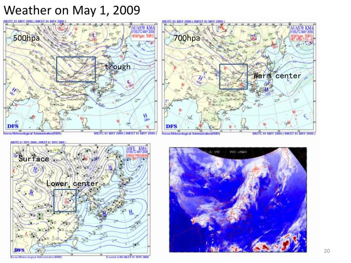 Weather on May 1, 2009