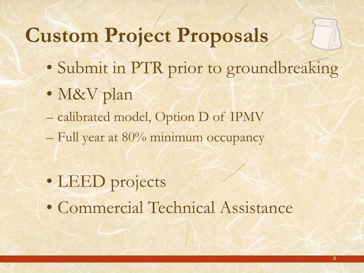 Custom Project Proposals