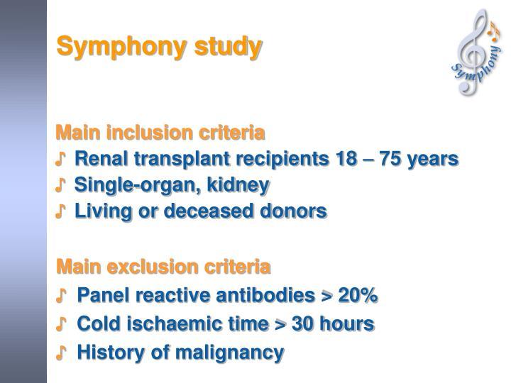 Symphony study