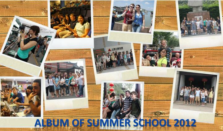 Album of Summer School 2012