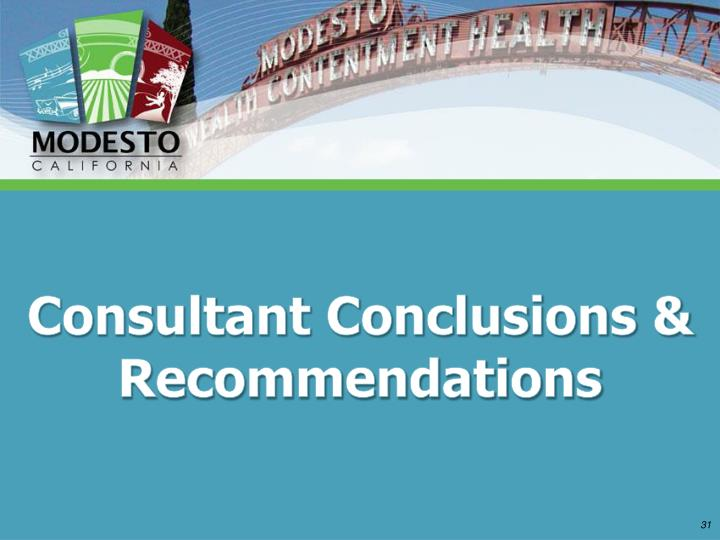 Consultant Conclusions & Recommendations