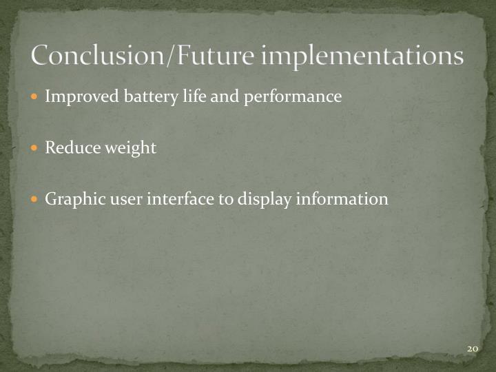Conclusion/Future
