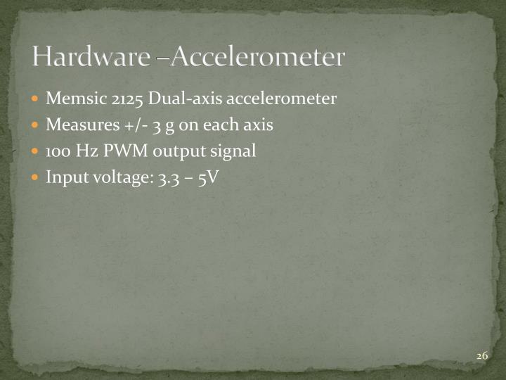 Hardware –Accelerometer